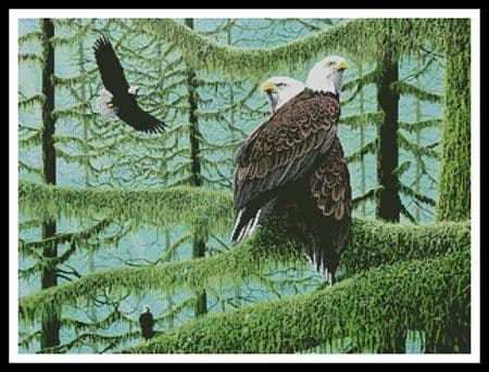A Gathering of Eagles by Artecy printed cross stitch chart